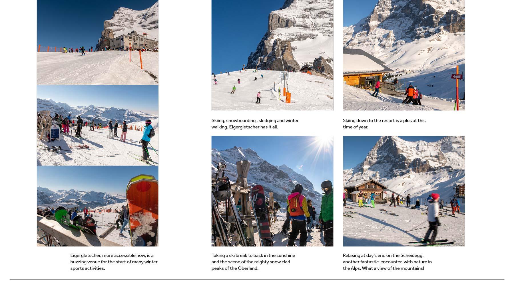 Skiing in Wengen